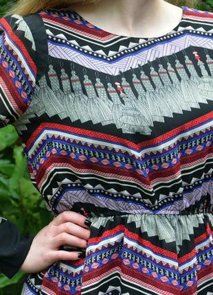 Платье разноцветное,геометрический узор,atmosphere