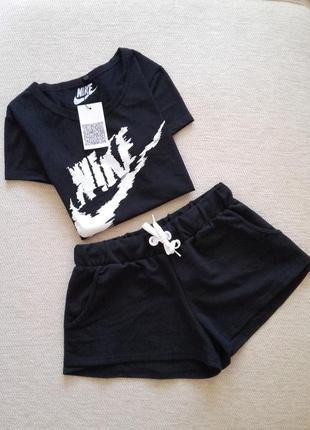 Спортивный, прогулочный,домашний костюм! футболка + шорты! турция