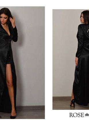 Эллегантное эксклюзивное платья с шортиками и шикарным разрезом и декольте