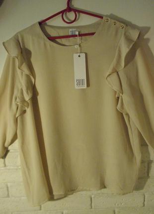 Летняя блуза с рюшами от saint tropez