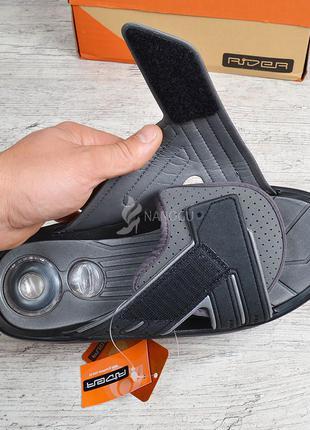 Шлепанцы мужские rider cross comfort ad exp черные с серым на липучке райдер4 фото