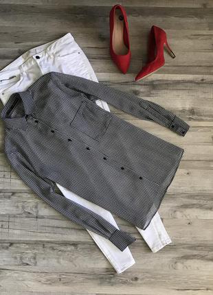 Рубашка в гусиную лапку от  zara