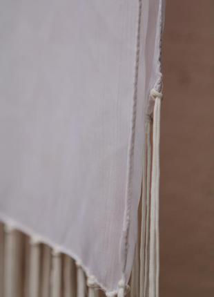 Белый легкий полупрозрачный шарф шифон