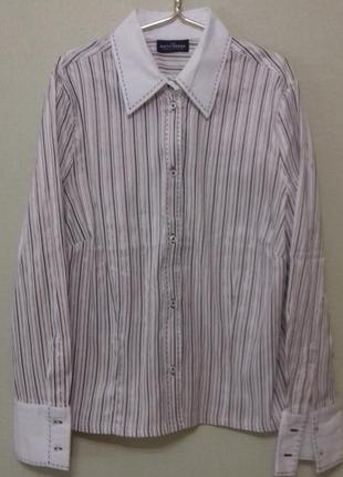 Рубашка блуза блузка денская белая sixth sense размер xl