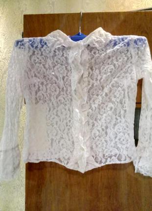Нарядная школьная блузка рубашка