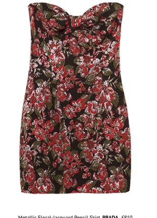 Zara стильное платье мини в цветочный принт с напылением