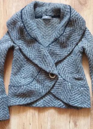 Вязаный пиджак, marks & spencer, размер 8
