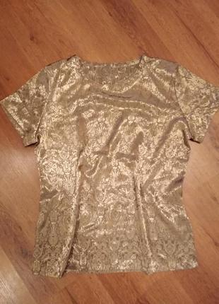 Блуза блузка золотая marks&spencer
