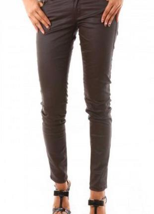 Крутые новые джинсы слимы reserved с бронзовой пропиткой под кожу