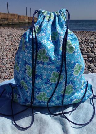 Рюкзак 2в1 сумка мешок городской пляжный рюкзак
