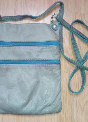 Синяя сумка vera pelle