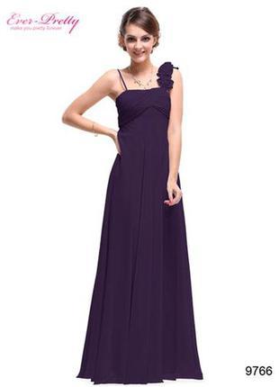 Фиолетовое нарядное вечернее платье ever pretty новое.