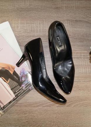 (39р./25,5см) paul green! кожа! классические базовые туфли на удобном каблуке