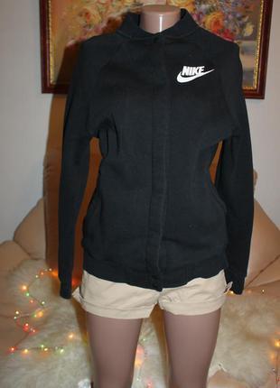 Nike найк оригинал теплый черный худ джемпер размер s