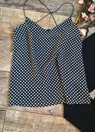 Топ/блуза в бельевом стиле/в горошек/чёрный/брители от vero moda-m-l