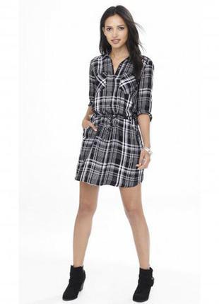 H&m крутое стильное платье-рубашка в клетку