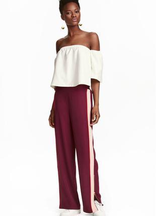 Широкие брюки с лампасами h&m арт 0422990