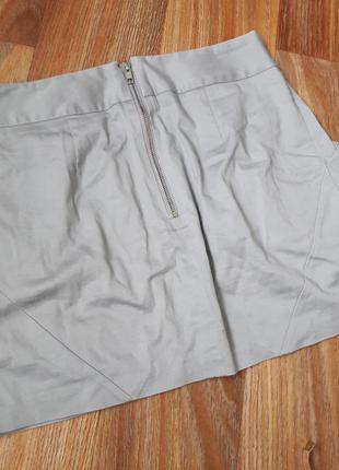 Юбка под классику серая с карманами2 фото