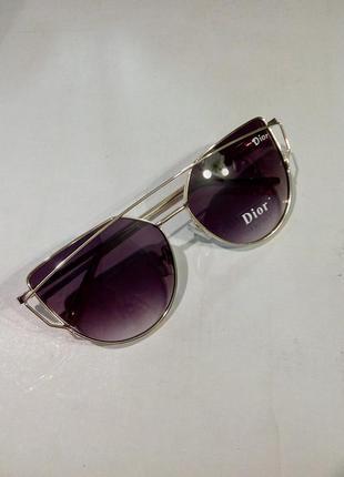 Очки солнцезащитные очень крутые женские металлическая оправа