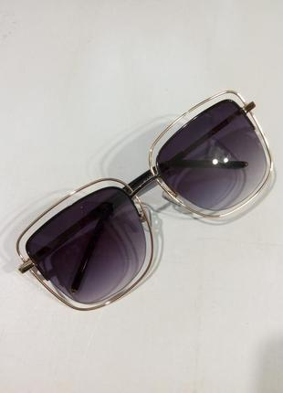 Очки женские солнцезащитные   модные  металлическая оправа