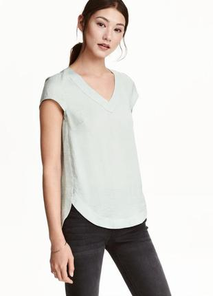 Атласная блузка h&m, m блуза