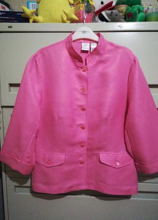 Летний пиджак жакет 55 % лен