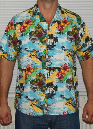 Рубашка яркая гавайская