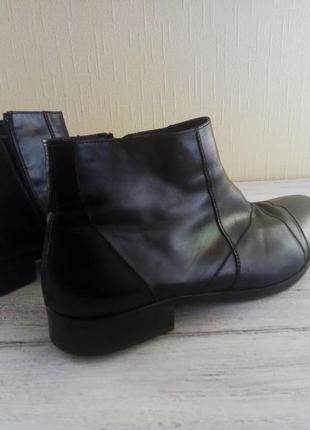 Кожанные мужские зимние ботинки carlo pazolini 43 р