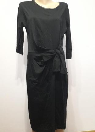 Платье черное massimo dutti