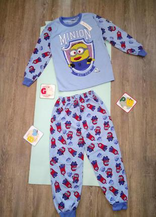 Новая хлопковая пижама на мальчика, на рост до 158 см, 14-15 лет new fashion minion миньон