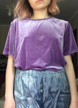 Велюровая футболка