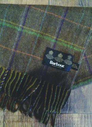 Шарф barbour. made in scotland. 100% шерсть. барбур