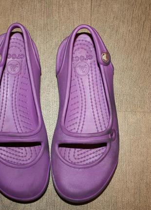 Кроксы-балетки лавандового  красивого цвета ф.crocs(оригинал )р-13,(30)с