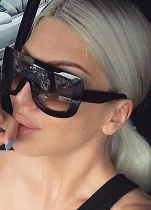 Шикарные, эктравагантные женские солнцезащитные очки  для модниц, тренд 2018 года