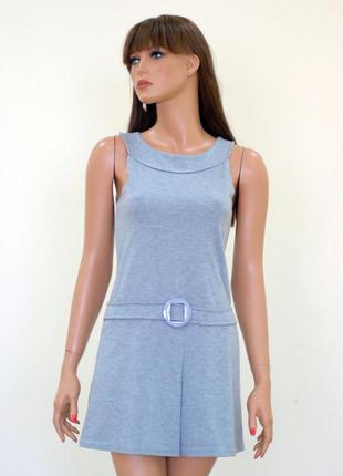 Трикотажное платье маечкой