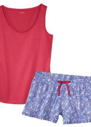 Красивая пижама, домашний костюм шорты майка esmara, германия, s