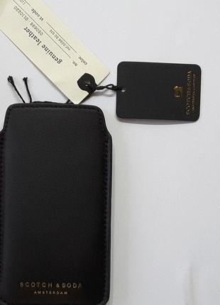Чехол -карман на телефон, кожа, scotch&soda, нидерланды