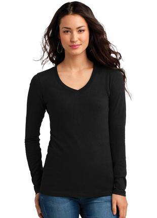 Лонгслив mexx пуловер черный базовый с длинным рукавом хлопок размер l