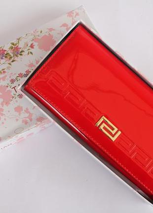 Кошелек, кошелек женский tailian, портмоне, лаковый кошелек, женский кошелек, красный