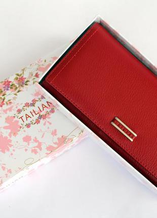 Кошелек, кошелек женский tailian, портмоне, эко кожа, женский кошелек, красный кошелек