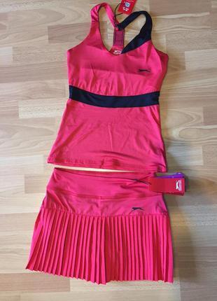 Юбка плиссе для большого тенниса и спортивная майка slezinger ххс или на 158 см