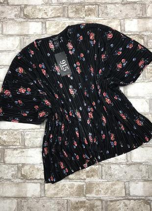 Красивая летняя накидка оверсайз в цветах, жатая кофта, кардиган,