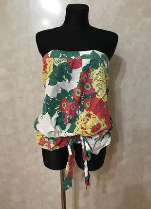 Потрясающая блуза 100% шелк р.xl