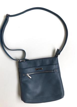 Голубая сумка crossbody david jones кросбоди