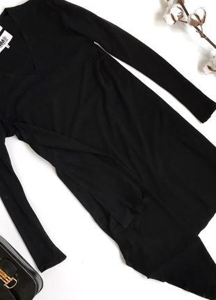 Чёрное хлопковое платье mm6 margiela owens