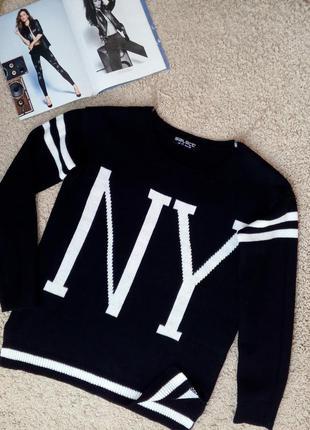 Select модный джемпер/пуловер/свитшот с полосками на рукавах s-m