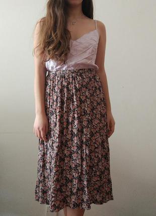 Юбка миди с цветами new look