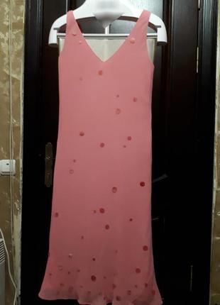 Розовое платье шелк jasper conran
