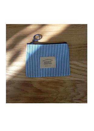 Компактный и стильный полосатый ретро кошелек