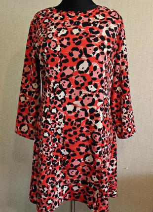 Леопардовое платье f&f